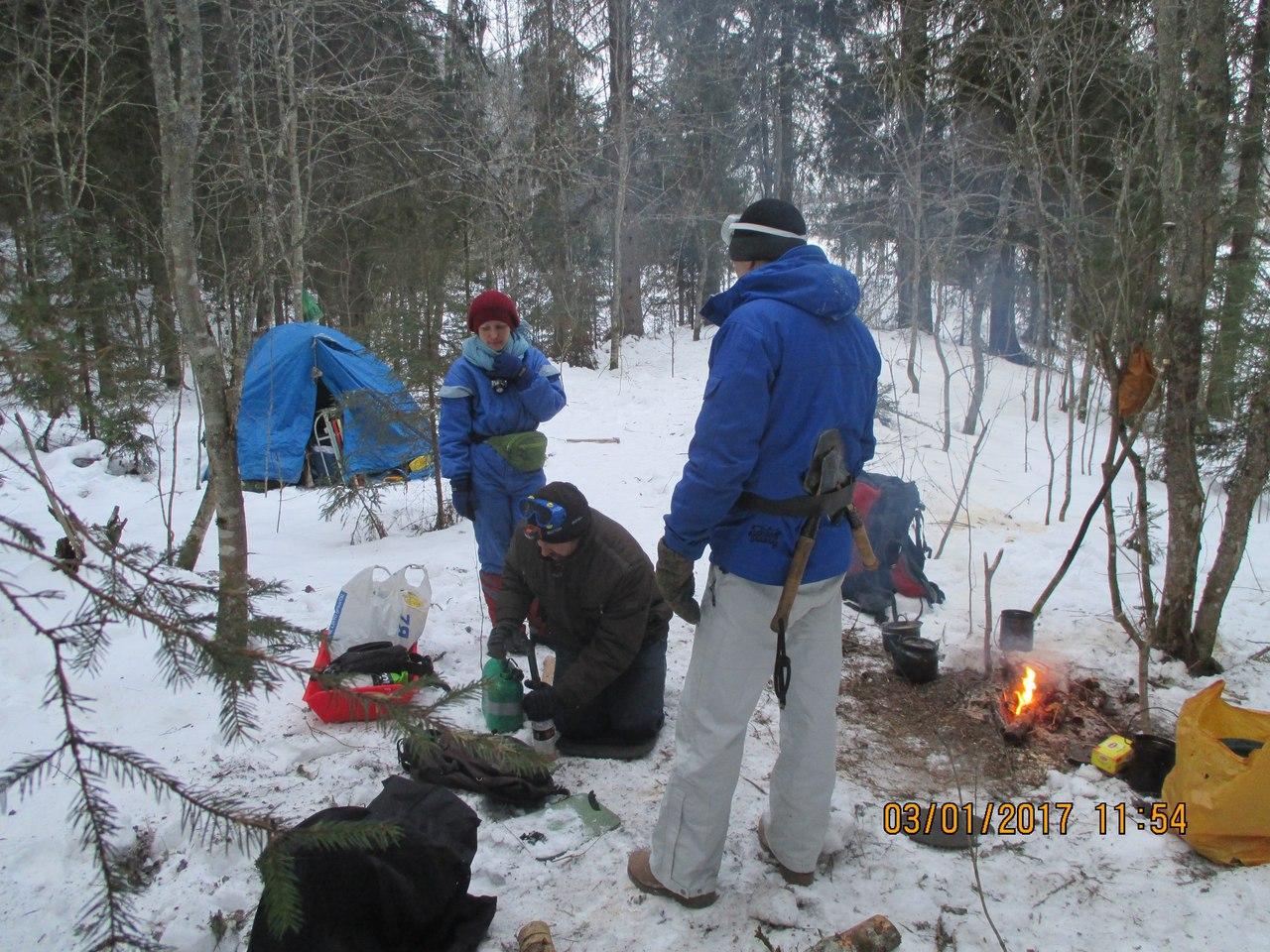 Лагерь экопартизан в Карелии. Охотхозяйство Черные камни. Январь 2017 - 2
