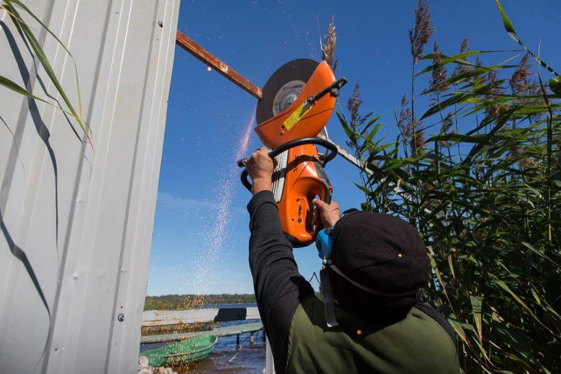 Озеро Суходольское, освобождение берега по соседству с дачей Зубкова